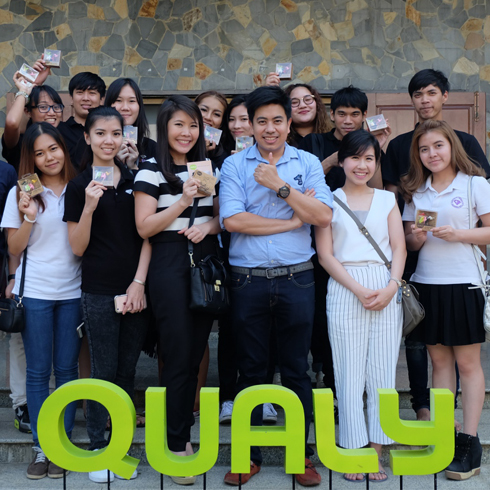 Master degree students from Bangkok University visited the Qualy's factory in Ayuthaya province.